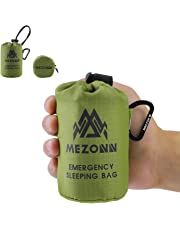 Mezonn Emergency Sleeping Bag Survival Bivy Sack Use as Emergency Blanket Lightweight Sleeping Bag Survival Gear for Outdoor Hiking Camping Keep Warm After Earthquakes, Hurricanes and Other disasters