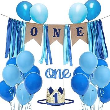 Amazon.com: Juego de decoración para primer cumpleaños para ...