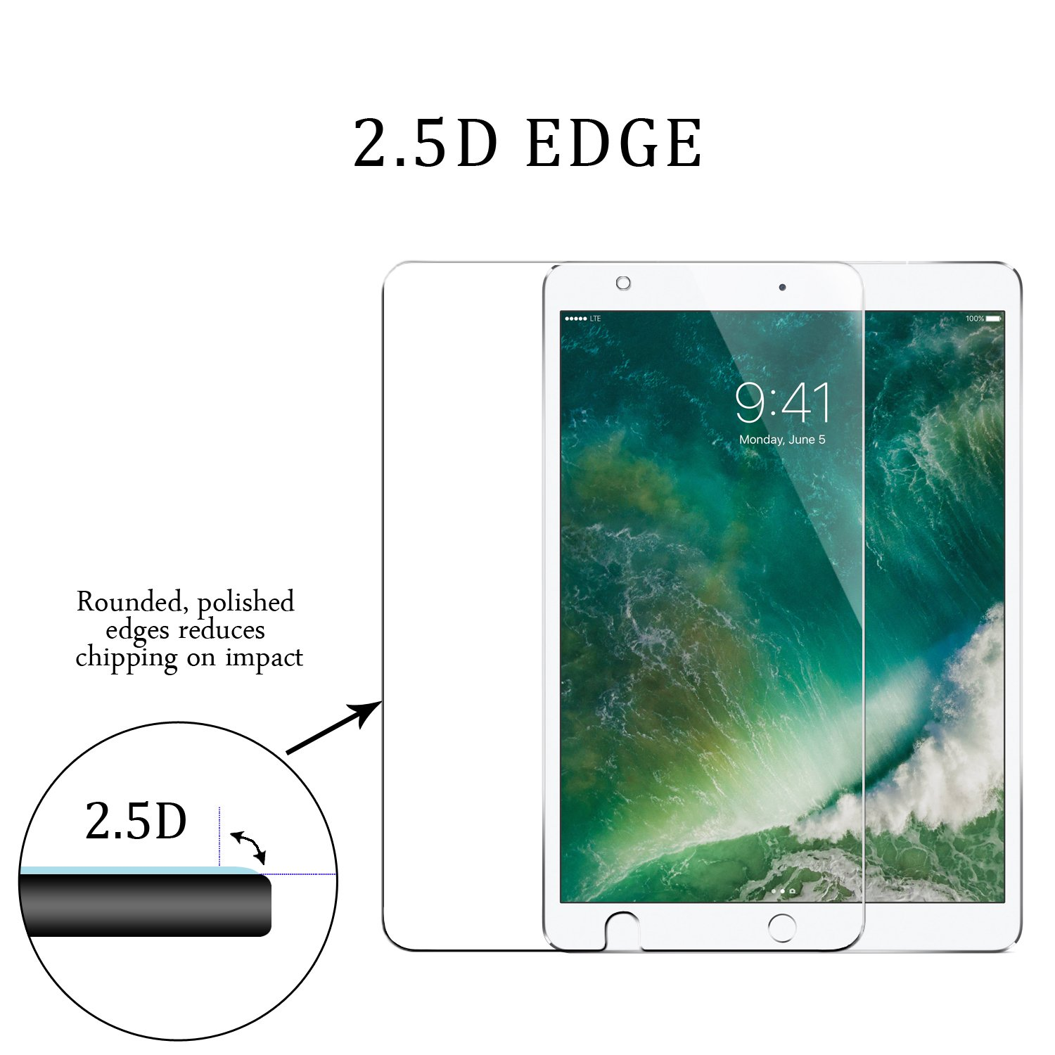 Surface pencil compatible tempered glass screen protector with 2 5d - Amazon Com Zeesa Ipad Pro 10 5 Screen Protector Tempered Glass Screen Protector For Ipad Pro 10 5 2 5d 9h Hardness Premium Clarity Anti Scratch