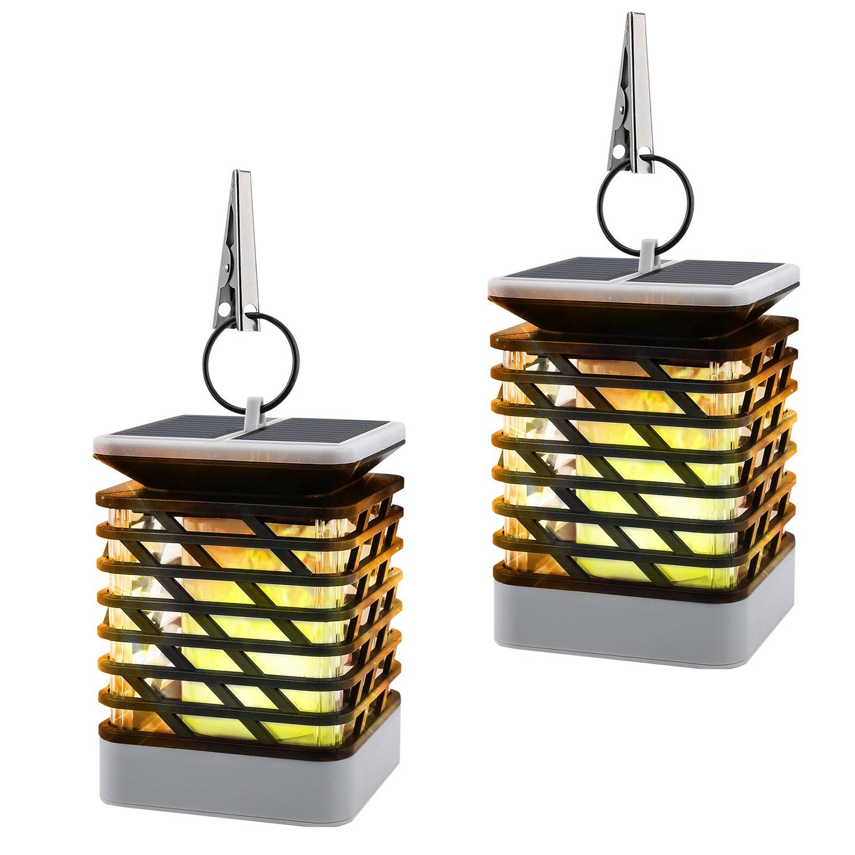 Solar Flame Lights 2pcs Moko Waterproof Led Solar