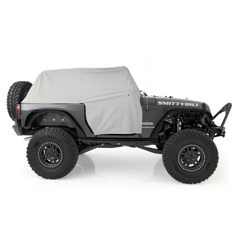 Rugged TUFF TUFFSHADE Jeep Wrangler JK Full Mesh Sun Shade Cover Safari Bikini Top 2007-2017 2-Door Models Features Stowaway Pockets UV Protection 5-Year Warranty for JK2D RT-TSJK2D