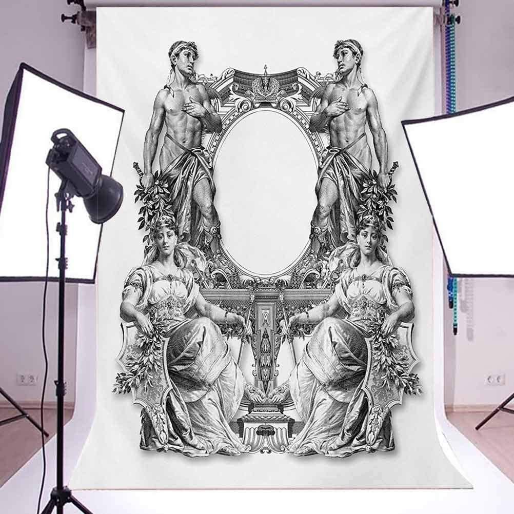 Victorian 10x15 FT Photo Backdrops,Old Victorian Frame Two Man and Two Woman Ancient Baroque Crown Princess Art Background for Child Baby Shower Photo Vinyl Studio Prop Photobooth Photoshoot