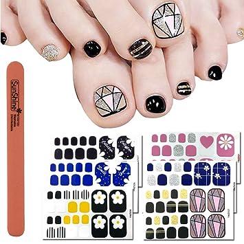 Amazon Wokoto 6 Sheets Nail Adhesive Polish Stickers For Toes