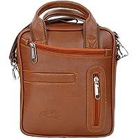 Leather World Trendy Sling Sling Bag for Men | Cross-Body Sling Bag for Daily Use (Tan)