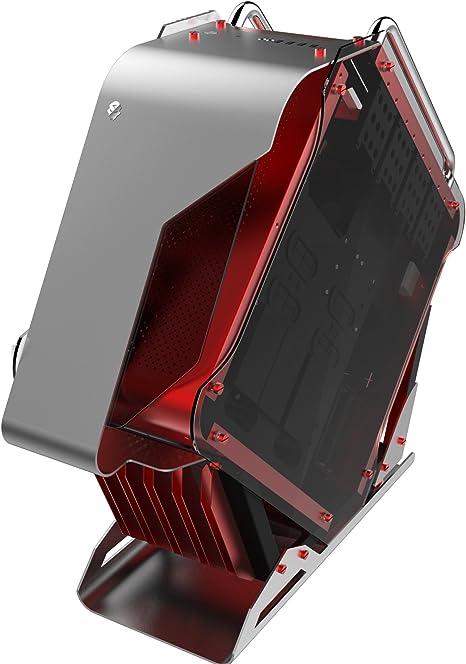 hobbyt rombos todos los refrigeración por agua juego de aleación de aluminio caja de ordenador semitorre ATX de ordenador Soporta BTX, ITX, Micro-ATX, ATX (rojo funda): Amazon.es: Electrónica