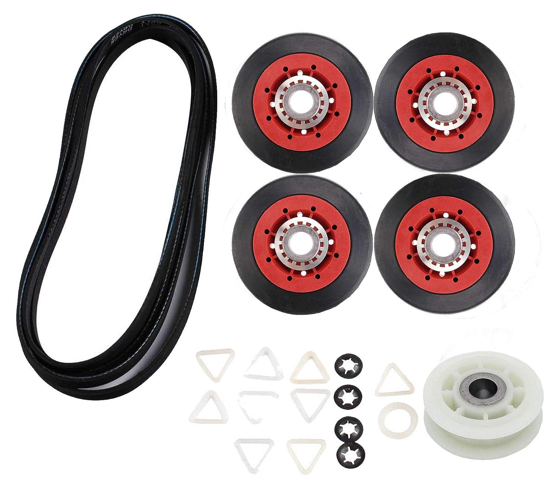 4392067RC 27-Inch Dryer Repair Kit Replacement 4392067VP for Whirlpool Maytag Kenmore,PS373088 AP3109602 Repair Kits Include 279640 Idler Pulley W10314173 Drum Roller 661570 Belt