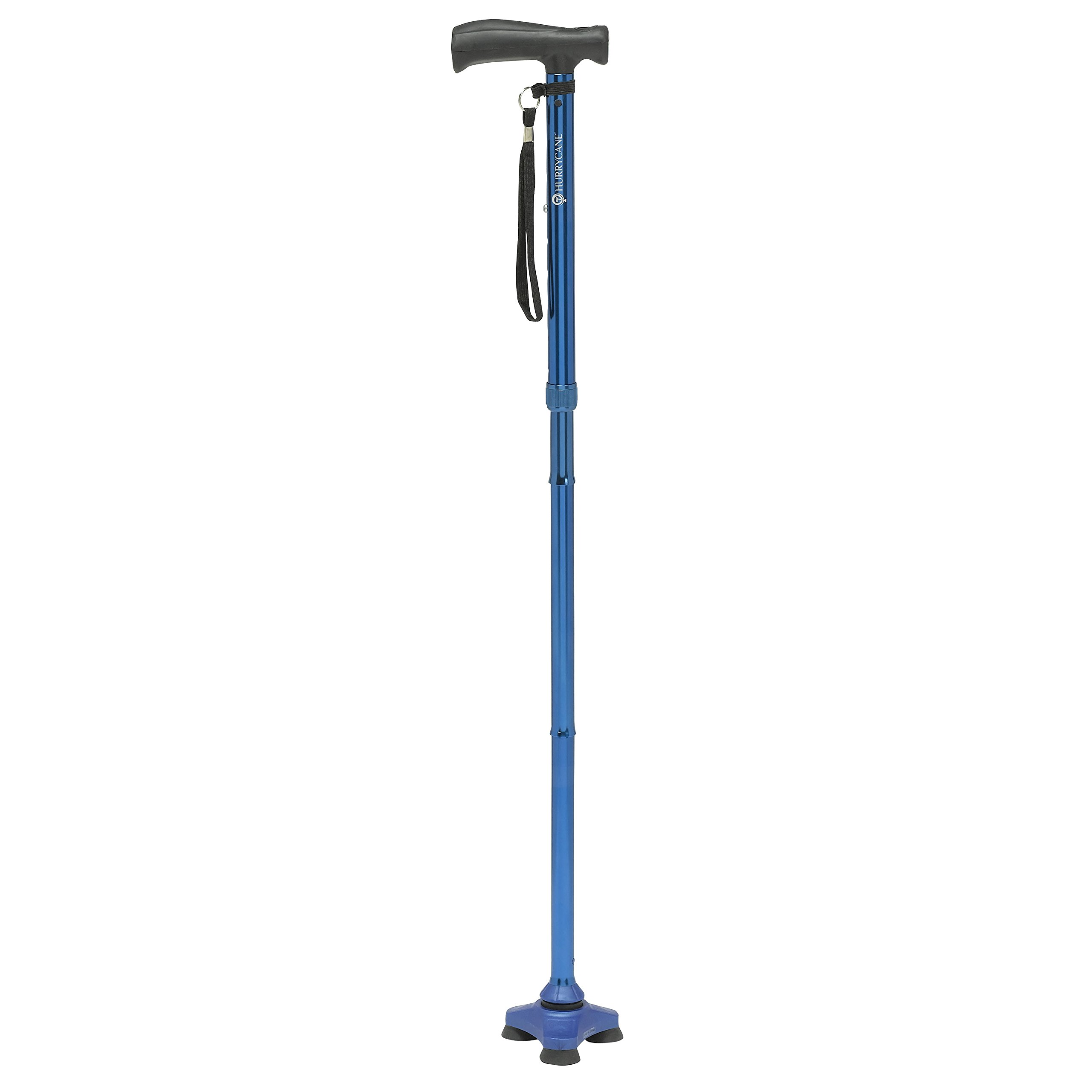 HurryCane Freedom Edition Folding Cane with T Handle, Trailblazer Blue
