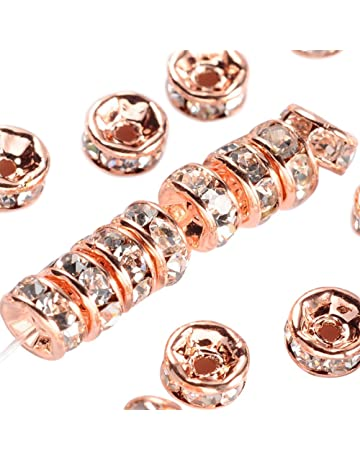 lady-muck1 Various Rose Gold Jewellery Making Spacer Beads Charms /& Findings