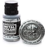 """Acrylicos Vallejo 32ml """"foncé Aluminium"""" Couleur métal"""