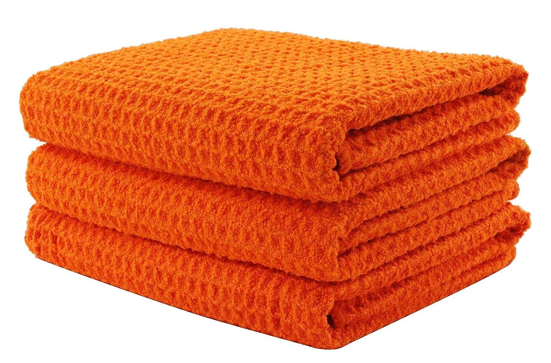 KLEIESH Microfiber Waffle Weave Kitchen Drying Towels 3 Pack (16