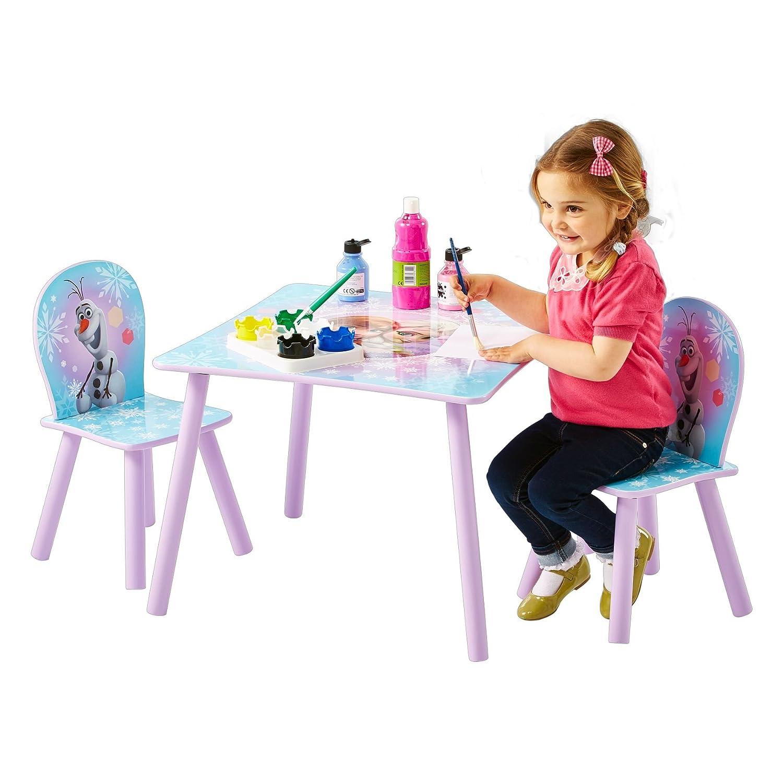 3 unit/à Disney Frozen Tavolino e Due Sedie WAP Multicolore Legno/_Composito Worlds Apart 59x59x52.5 cm