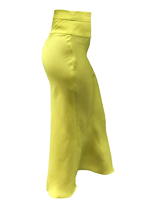 e2e6cdeafca2 Free People NORMANI Silky BIAS Skirt Lime Green at Amazon Women's Clothing  store: