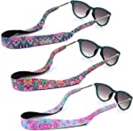 YR Floral Pattern Sunglass Straps, Soft And Durable Neoprene Material Floating