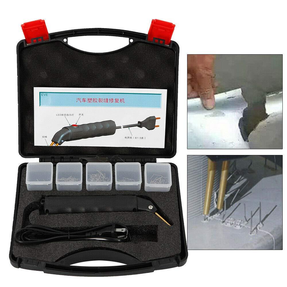 Repair Machine/Tool Kit - 1 X Hot Stapler + 1 X Storage Case + 500 X Staples Hot Stapler Kit for Repairing Plastics Car Bumper Welder Gun+Case