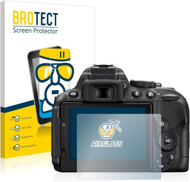 brotect Protector Pantalla Cristal Compatible con Nikon D5500 Protector Pantalla Vidrio Dureza 9H AirGlass
