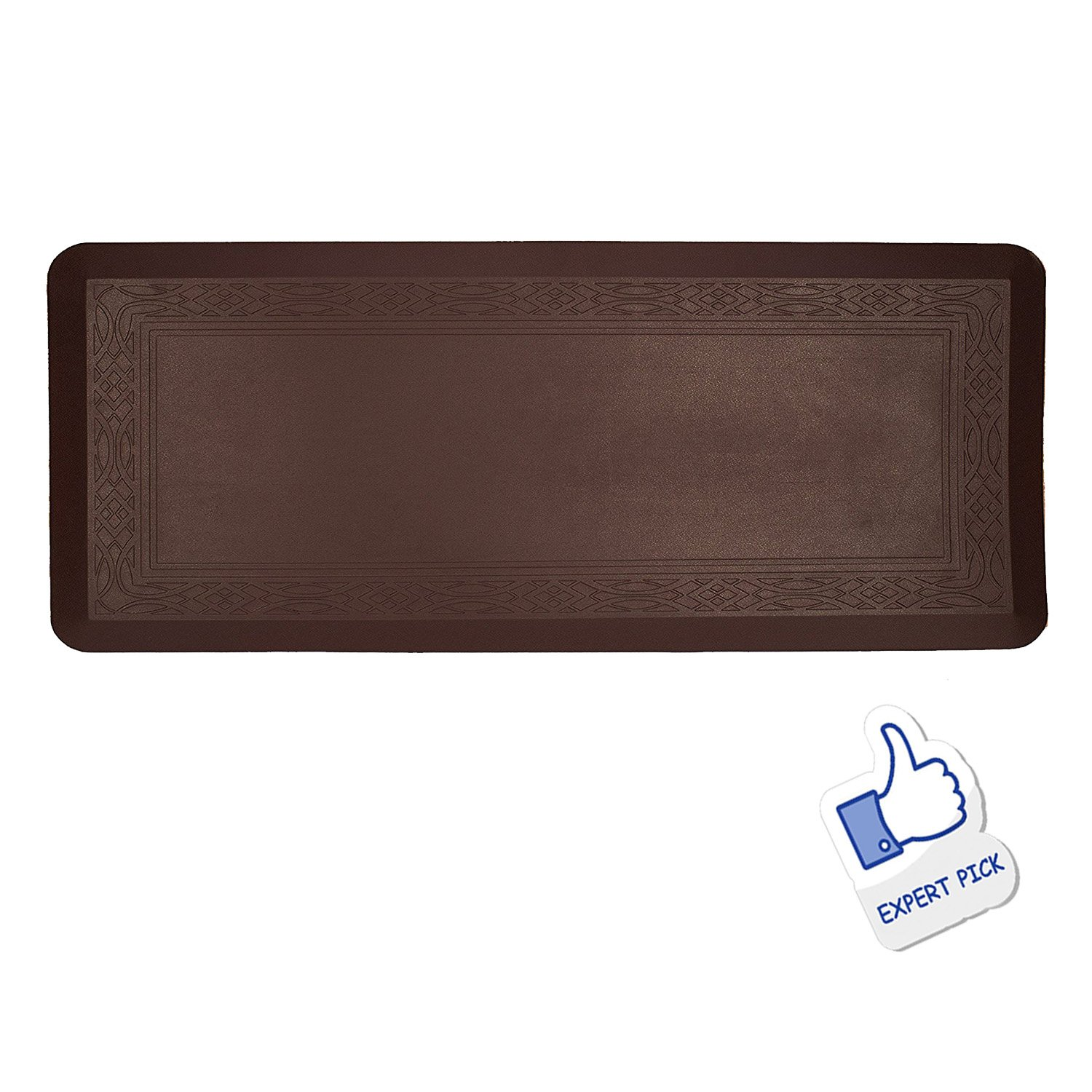 Grand Era Anti-Fatigue Comfort Mat- 24 in by 60 in- Multi Surface All-Purpose Luxurious Comfort - for Kitchen, Bathroom or Workstations, Coffee