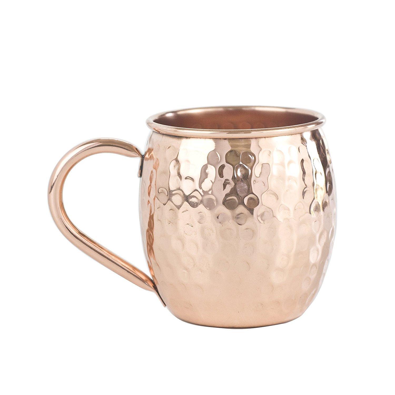 Panchal Creation Bulk Package - 50 Copper Mugs (The Barrel Hammered)