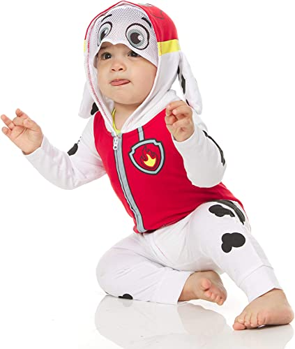 Paw Patrol Infant Baby Boys Dress to Play Romper Costume Red//White//Black