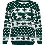 Janisramone Girls Boys New Kids Christmas Reindeer Snowflake Novelty Knitted Children Xmas Jumper Sweater Top