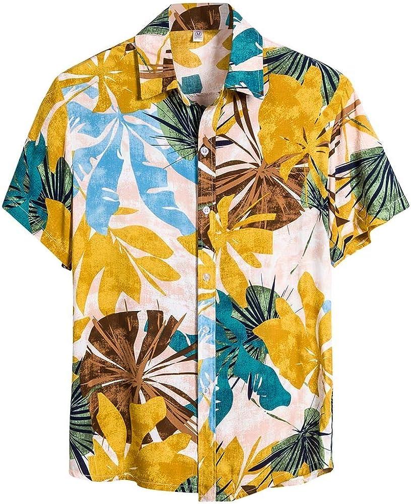 Sylar Camisas de Manga Corta Verano Camisas Hawaianas para Hombre Camiseta Casual Slim fit Vacaciones Camisas de Playa Hombre Moda T-Shirt Blusas XL: Amazon.es: Ropa y accesorios