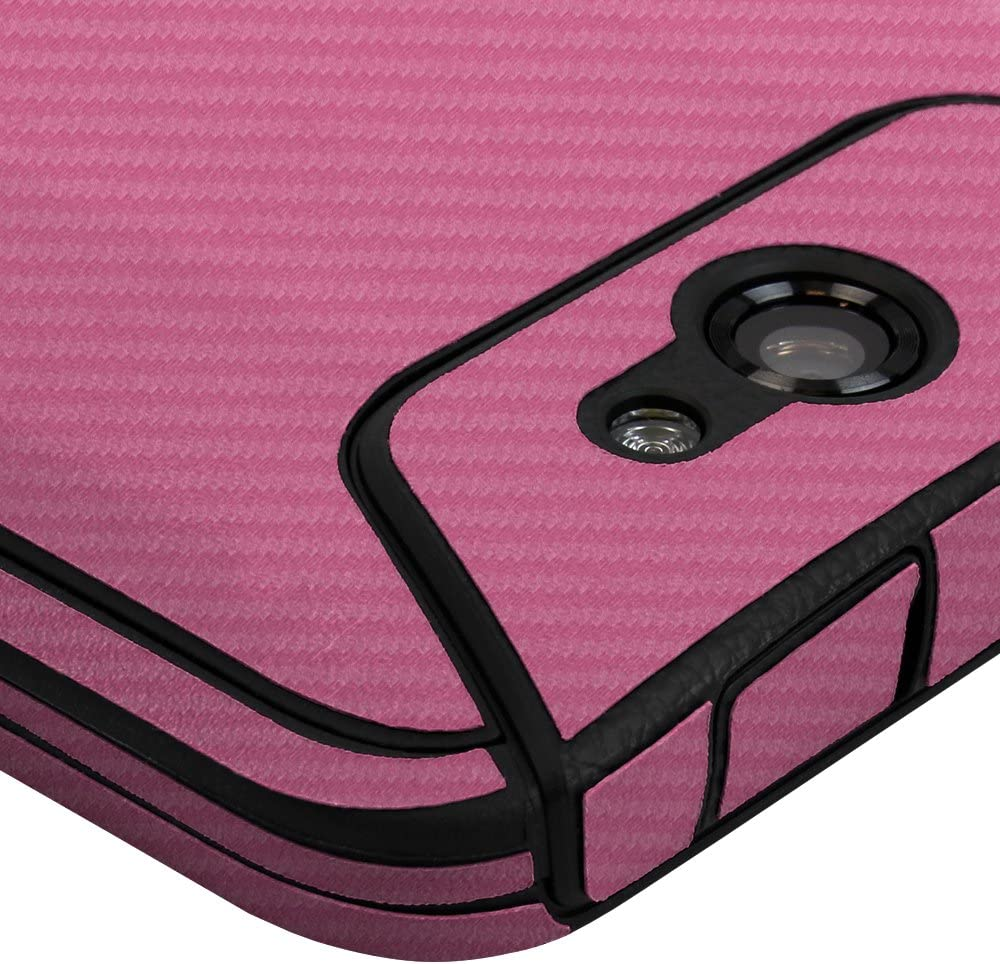 Full Coverage TechSkin with Anti-Bubble Clear Film Screen Protector Skinomi Pink Carbon Fiber Full Body Skin Compatible with Kyocera DuraForce XD