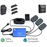 FSLabs DJI Mavic Pro/Platinum 5 In 1 Rapid Battery Charger Smart Multi Battery Intelligent Charging Hub With Ground Connection