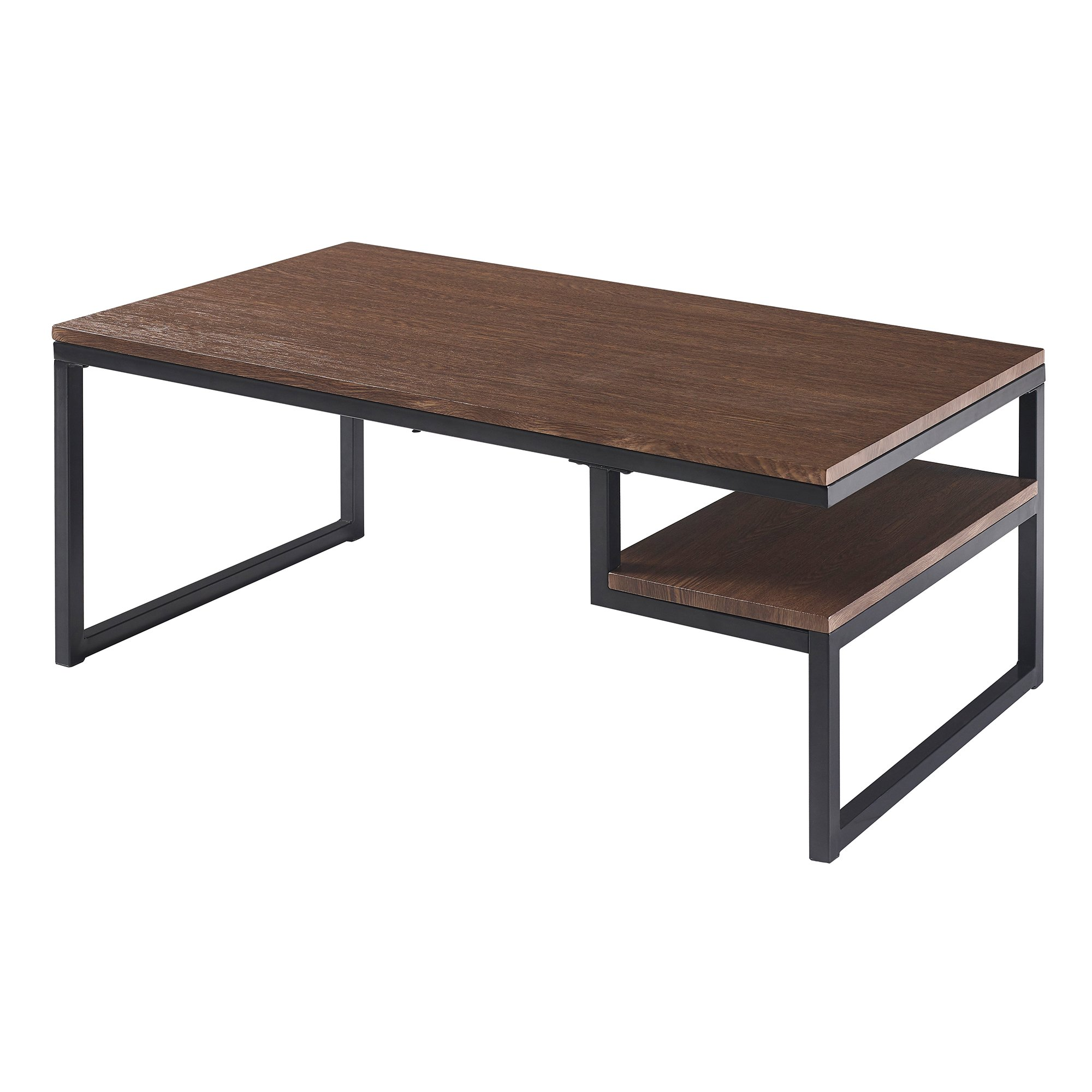 Versanora - Industriale Coffee Table - Walnut/Black