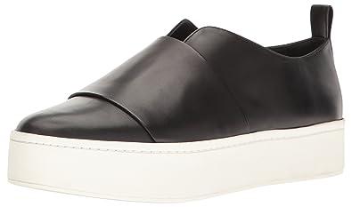 c2091cbae13 Amazon.com  Vince Women s Wallace Black Leather Fashion Sneaker  Shoes