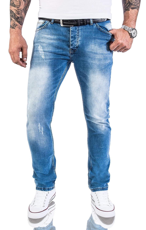 Rock Creek Designer Herren Jeans Hose Stretch Jeanshose Basic Slim Fit W29-W40 M21