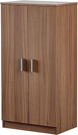HABITMOBEL Mueble Zapatero, Dos Puertas, Acabado Nogal, 108 x 55 x 36 cm de Fondo