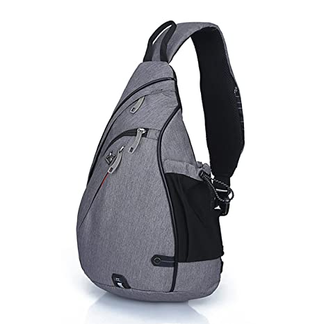 f3029713c7 RIOMI Sling Bag Canvas Crossbody Backpack for Women and Men Waterproof  Lightweight Shoulder Chest Outdoor Bag