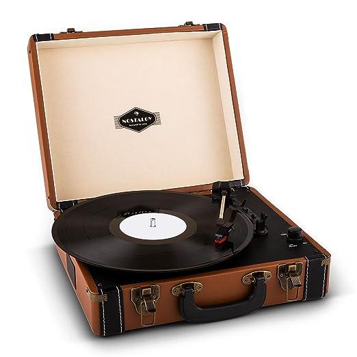 120 opinioni per auna Jerry Lee Giradischi a valigetta vintage compatto e portatile (casse audio
