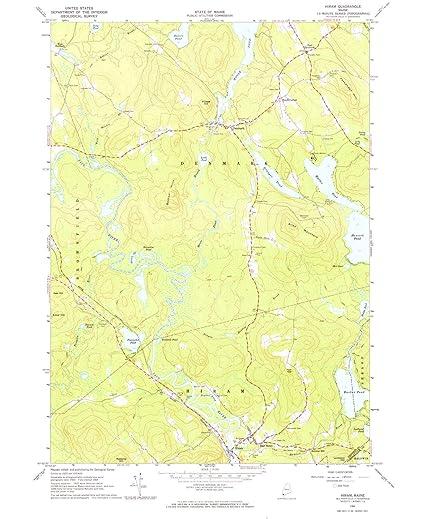 Hiram Maine Map.Amazon Com Yellowmaps Hiram Me Topo Map 1 24000 Scale 7 5 X 7 5