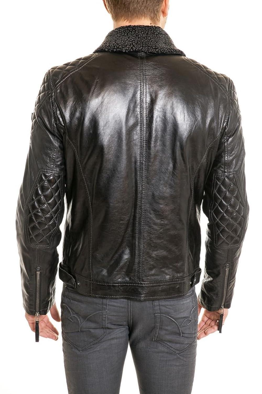 Leather jacket olx - Gipsy By Mauritius Men S Long Sleeve Jacket Black X Large Amazon Co Uk Clothing