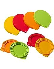 Cubiertas de silicona para latas de mascotas, 4 unidades, para mascotas, perros, gatos, comida, lata,se adapta a todos los tamaños estánda, tapas universales de silicona para tapas de latas