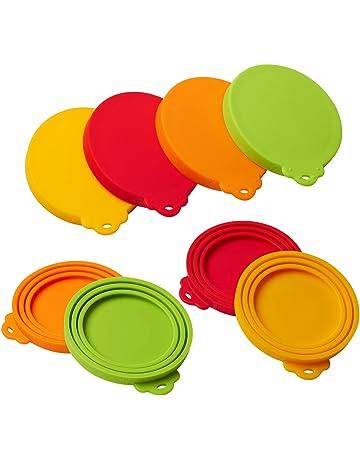 Cubiertas de silicona para latas de mascotas, 4 unidades, para mascotas, perros,