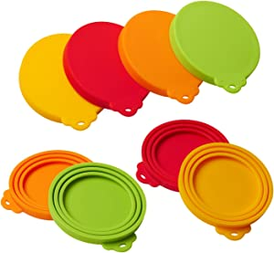 star sound source Silicone Pet Can Covers lids-4 Pack for Pet Dog Cat Food Can Top One Size Fits All Standard Size Dog and Cat Can Tops Universal Silicone Can Lid Cover 4/Pack