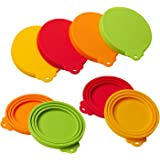 star sound source Silicone Pet Can Covers lids-4 Pack for Pet Dog Cat Food Can Top One Size Fits All Standard Size Dog and Cat Can Tops Universal Silicone Can Lid Cover 4/Pack (4clours)