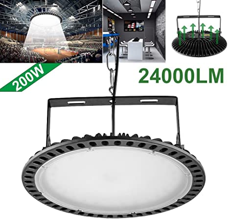 UFO LED High Bay Light 300W 200W 100W Factory Warehouse Gym Shop Flood Lamps USA