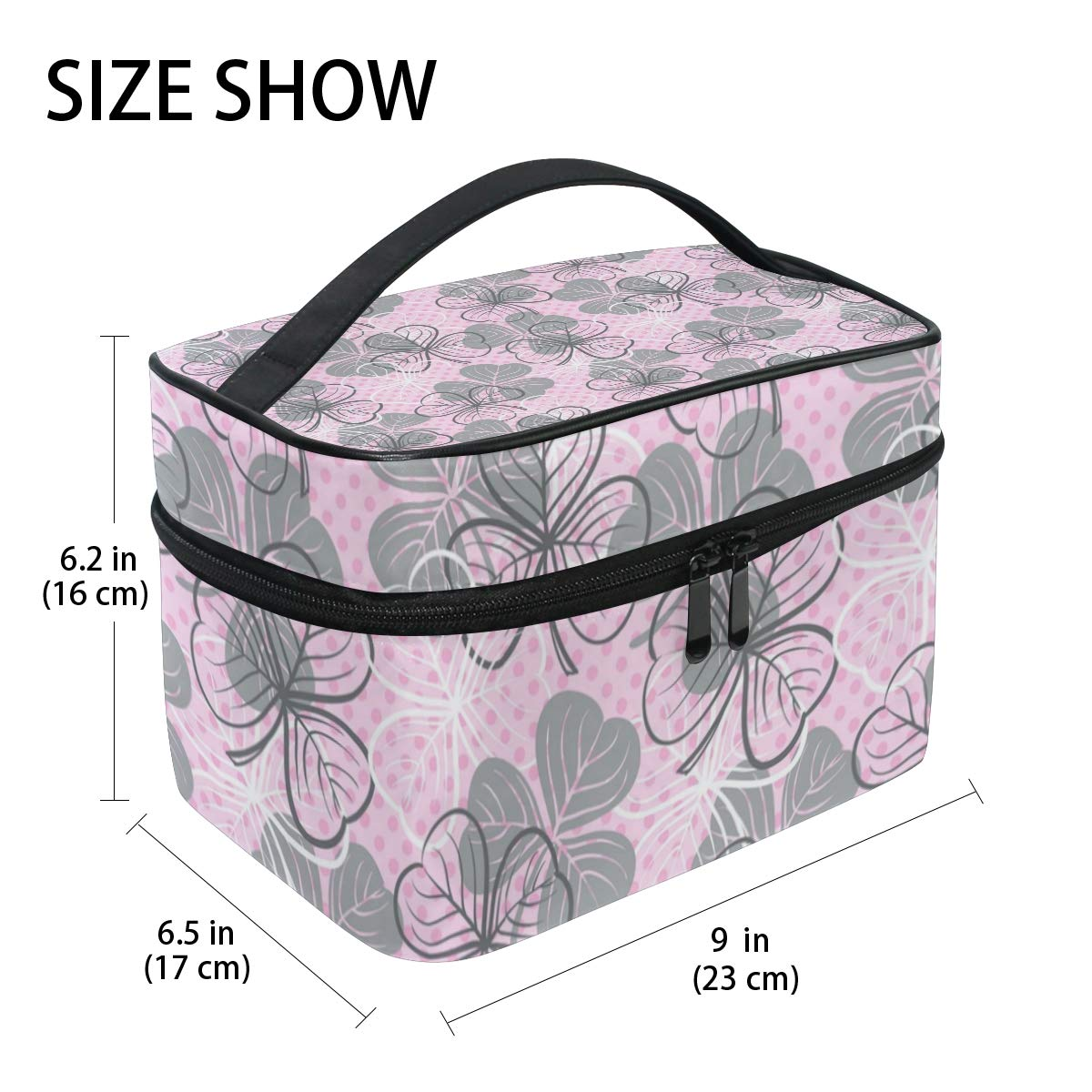 595c536dcc81 Amazon.com : Sexy St Patricks Day Lucky Clover Large Travel Toiletry ...