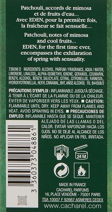 Amazoncom Cacharel Eden Eau De Parfume Spray 17 Ounce Perfume