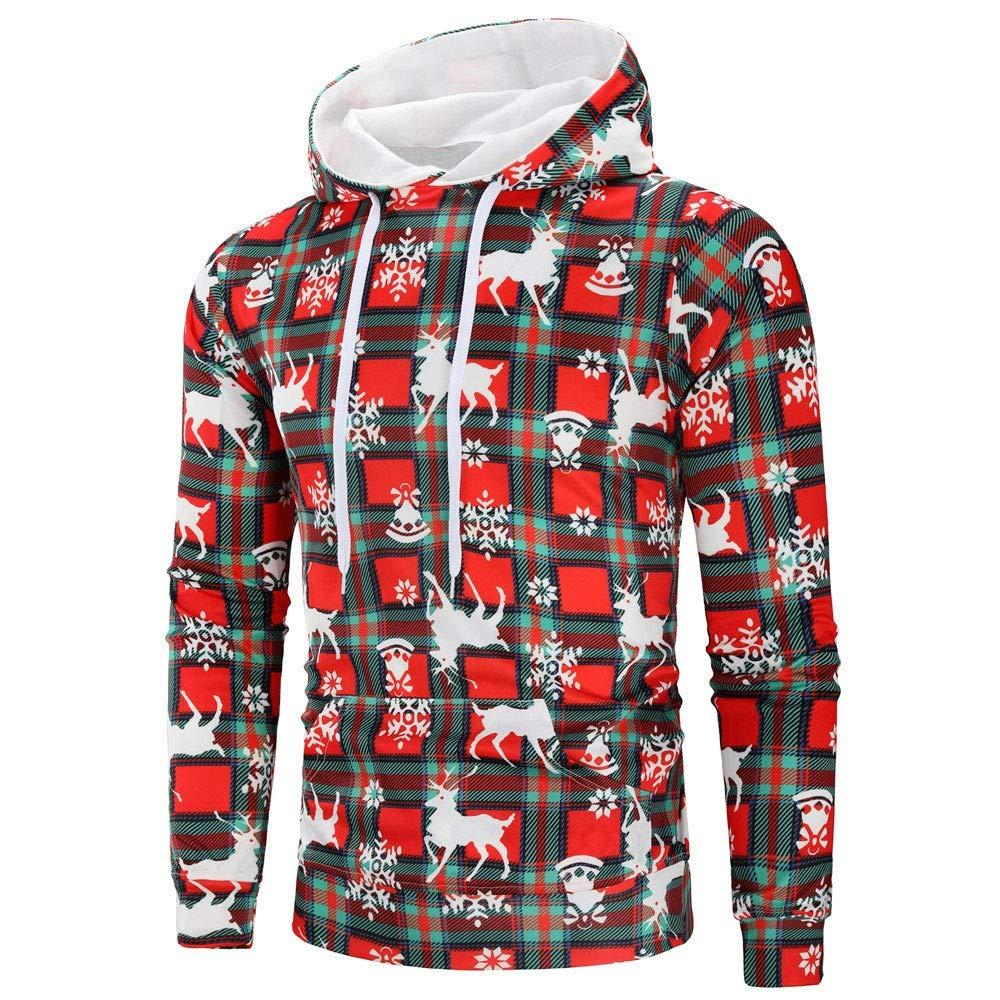 Heligen Mens Christmas Hooded Sweater Casual Xmas Bohemian Printed Long  Sleeve Pullover Sweatshirt Hoodie Coat Top Blouse Festival Style   Amazon.co.uk  ... 38bd25dcb