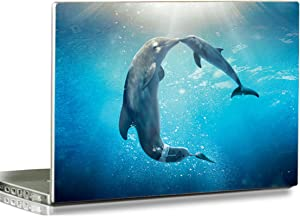 HYUTOTA Laptop Stickers Decal,12 13 14 15 15.6 inches Netbook Laptop Skin Sticker Reusable Protector Cover Case for Toshiba Hp Samsung Dell Apple Acer Leonovo Sony Asus Laptop Notebook (Dolphin)