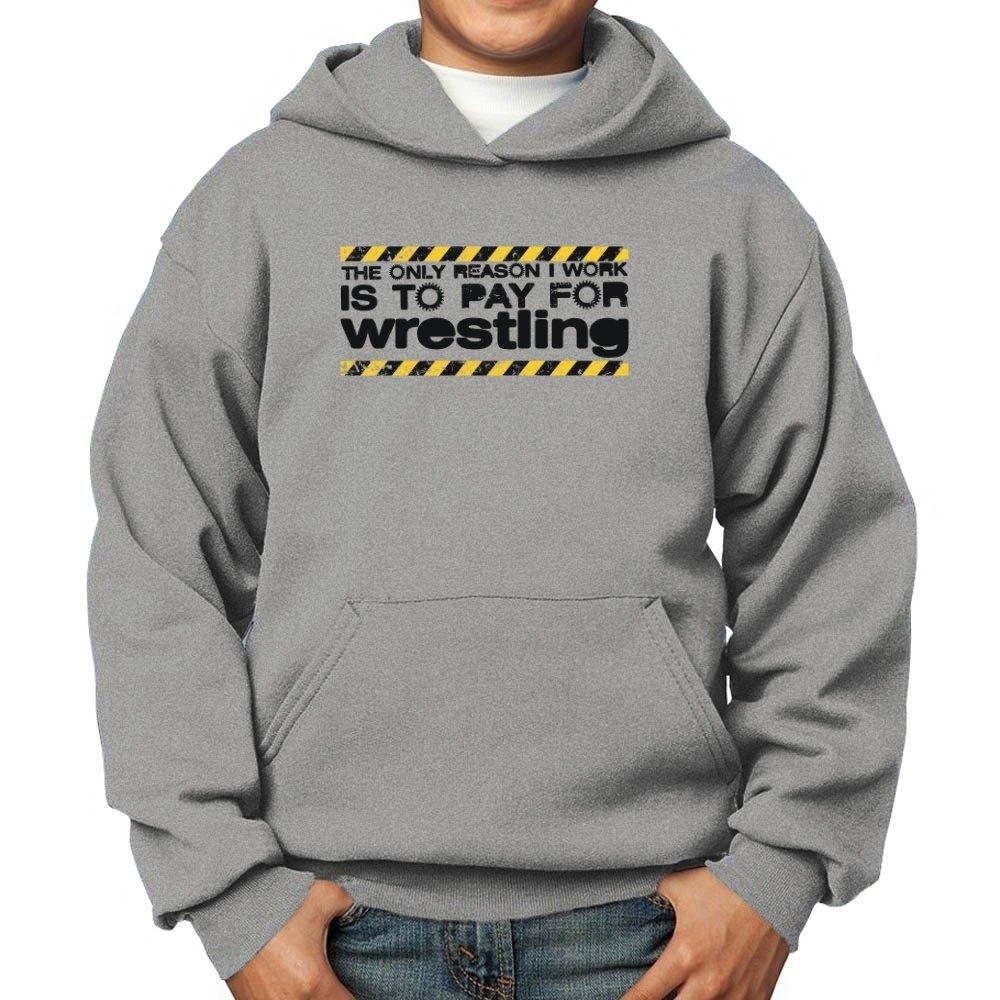 Teeburon reason I Work Is To pay For Wrestling Boy Hoodie by Teeburon