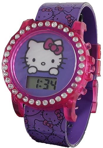 Hello Kitty intercambiables para niña de luminoso digital reloj hk3017: Amazon.es: Relojes