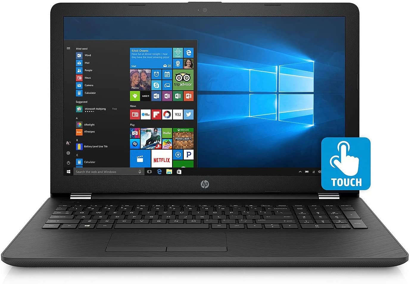 "HP Touchscreen 15.6"" HD Notebook - AMD A9-9420 DC Processor - 8GB Memory - 2TB Hard Drive - Optical Drive - HD Webcam - Smoke Gray"