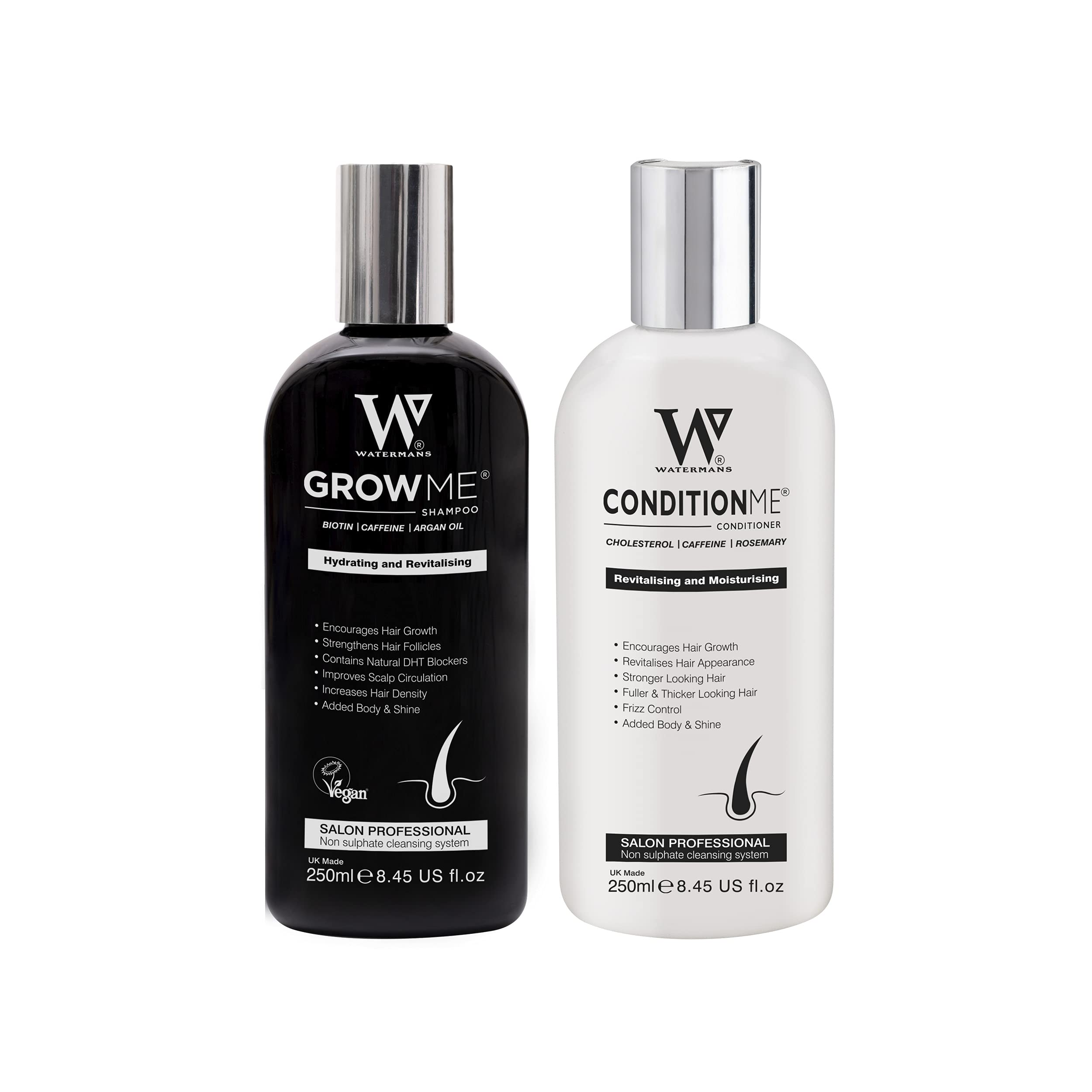 Hair Growth Shampoo and Conditioner set by Watermans - Boost your Growth
