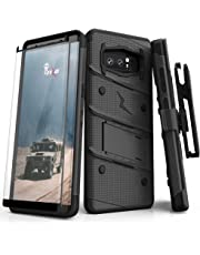 ZIZO Bolt Series Samsung Galaxy Note 8 Case Military Grade Drop Tested with Tempered Glass Screen Protector Holster Black