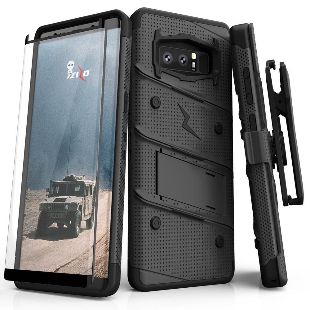 Samsung Galaxy Note 8 Case, Zizo FREE KickstandHolster: Amazon.de ...