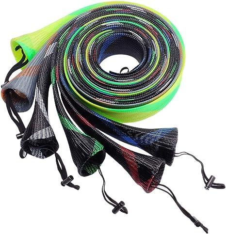 SF Pesca Spinning Rod, Rod Funda calcetín, Random Color/6 PCS: Amazon.es: Deportes y aire libre